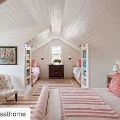 Unutterable Attic bedroom windows,Attic renovation ideas and Attic remodel birmingham. Bunk Rooms, Attic Bedrooms, Home Bedroom, Bonus Room Bedroom, Girls Bedroom, Master Bedroom, Upstairs Bedroom, Attic Renovation, Attic Remodel