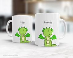 Graduation Gift Mug Congratulations Congrats Graduating College High School Grad Graduate Believe Dragon Quote Mugs Gifts For Her Him Friend  Believe...this cute dragon mug is a perfect way to send a message of inspiration and best wishes to a friend or family member as they embark on their next big adventure in life. From college or high school graduation to landing a big new job or heading off to slay some dragons on the other side of the world, send this cute little guy and brighten their…