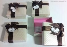 VERSAND FREI 4 St Geschenk BOX Schachtel FOR YOU Schachtel Karton Etui Schleife