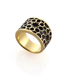 ROUNDABOUT GOLD BLACK RING