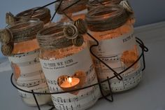 cute candle jars