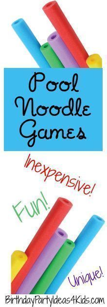 Fun games that use pool noodles! No pool required for these fun games. Inexpensive, unique games for kids, tweens and teens. Summer fun with pool noodles! Noodles Games, Pool Noodle Games, Pool Party Games, Pool Noodles, Beach Party Games, Sleepover Games, Gym Games, Fun Games At Work, Fun Camp Games