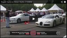 Click on the video below to watch this 900hp Nissan skyline gtr R34 vs a 1001 Bugatti Veyron drag race. http://www.powercarzone.com/2014/11/skyline-gtr-r34-vs-bugatti-veyron.html