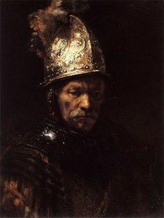 Рембрандт — Мужчина с золотым шлемом