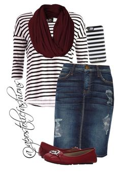 """""""Apostolic Fashions #1030"""" by apostolicfashions on Polyvore featuring Dr. Denim, Current/Elliott, MICHAEL Michael Kors, Kate Spade, women's clothing, women's fashion, women, female, woman and misses"""
