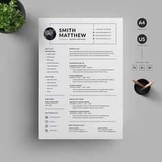 Resume/CV by Reuix Studio If you like this design. Check others on my CV template board :) Thanks for sharing! Best Resume, Resume Cv, Resume Tips, Resume Writing, Business Resume, Resume 2017, Writing Tips, Certificate Design Template, Resume Design Template