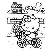 Hello Kitty Kleurplaten A4.Veel Kleurplaten Geordend Per Thema Cat In The City Hello Kitty