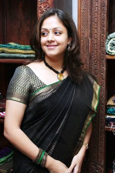 Jyothika Photoshoot @ Lakshmi Sarees Launch
