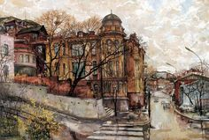 работы Осиповых Е. и О.-09 Urban Painting, Home Art, Street Art, Art Prints, Country, City, Travel, Image, Houses