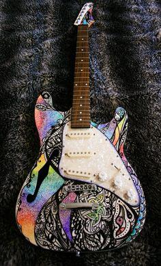 Sharpie Art Guitar (2008) by Zo Jones, via Behance