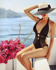Pretty Summer Outfits You Need Glamour Fashion, Paris Chic, Bikini Outfits, Cute Swimsuits, Casual Summer Outfits, Girl With Hat, Swimwear Fashion, Beautiful Outfits, Bathing Suits