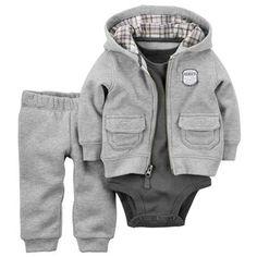 Baby Boy 3pc Clothing Set - Jacket, Pants, Onesie