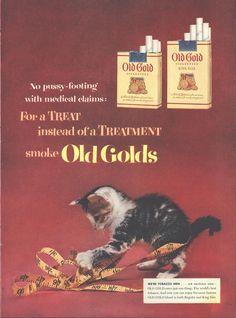 Old Golds Cigarettes (Both Sides) Colgate Palmolive Vaseline Page LIFE October 12 1953