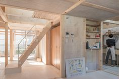 Japanese architect Yoshichika Takagi captures the beauty of minimalism in the House in Shinkawa. Timber Frame Homes, Timber House, Sweden House, Home Greenhouse, Two Storey House, Japanese Architecture, Pavilion Architecture, Sustainable Architecture, Residential Architecture