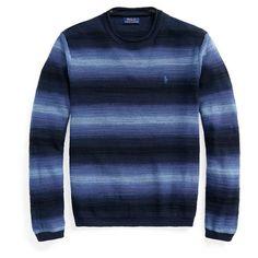 Polo Ralph Lauren Polo LW Stripe Crew Sn11   Van Mildert Neck Collar, Navy Stripes, Spring Outfits, Knitwear, Polo Ralph Lauren, Men Sweater, Crew Neck, Stylish, Sweatshirts
