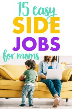 Side jobs for moms! Get the best 15 side jobs moms can do at home and make money at home. Stay home during COVID and stay safe by having a side job at home! #sidejob #momjob #momlife