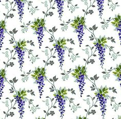 Dolls House   Wallpaper 1/12th or 1/24th scale Quality Paper Wisteria Dollhouse #186