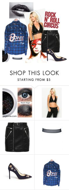 """""""Rock N' Roll Circus"""" by myyuccie on Polyvore featuring Yves Saint Laurent, Jimmy Choo and bralette"""