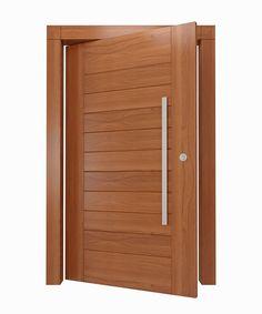 Porta pivotante de madeira maciça - Ecoville Portas Especiais