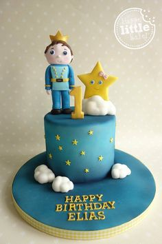 Birthday cake based on the Little Prince and Twinkle Star video/nursery rhyme.