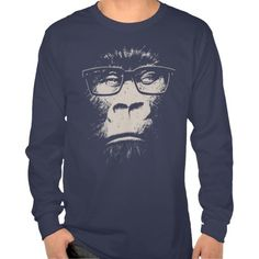 Hipster Gorilla With Glasses Shirts you will get best price offer lowest prices or diccount couponeHow to          Hipster Gorilla With Glasses Shirts Review on the This website by click the button below...