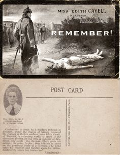 The Murder of Edith Cavell History Images, Women's History, World War One, First World, Edith Cavell, Nursing Pictures, Registered Nurses, Nursing Profession, British Soldier