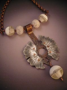 """""""Frosted in Flight"""" Necklace from Allison L Norfleet Bruenger Collections"""