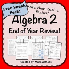 20 High School Math Ideas High School Math Algebra Activities