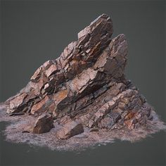 Rock Formation, Daniel Castillo Calvo on ArtStation at https://www.artstation.com/artwork/0d3AY