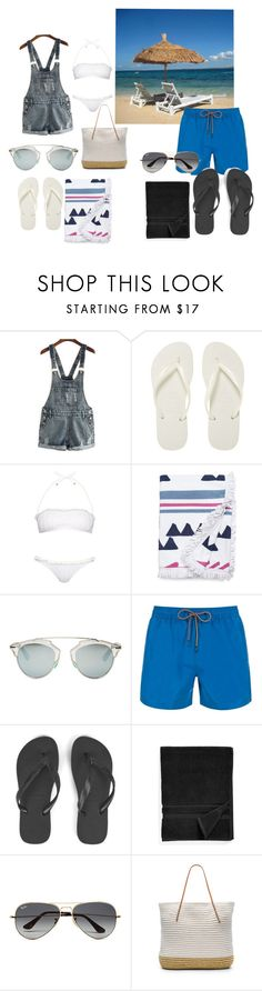 """Beach day"" by susanamarques16 ❤ liked on Polyvore featuring Havaianas, Missoni Mare, Soleil, Christian Dior, Paul Smith, Waterworks, Ray-Ban and Hat Attack"