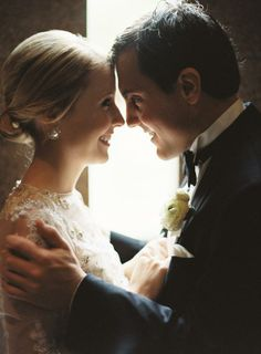 inspiration | back lit bride and groom shot | jason and anna photography | via: ruffled