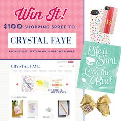 Enter the {Exciting!} GIVEAWAY to Crystal Faye for a $100 Shopping Spree on the blog! #giveaway