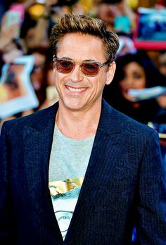 Robert Downey Jr attends the Premiere of 'The Avengers: Age Of Ultron' at Westfield London on April 21, 2015 in London, England.