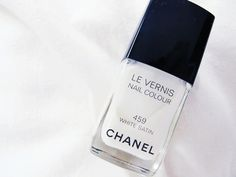 Chanel - White satin #classyblog #chanel #white #black #nails #nailpolish #beauty #beautyproducts #cosmetics