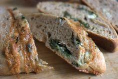 Spinach and Brie Sourdough (standard sourdough recipe + brie and frozen spinach)