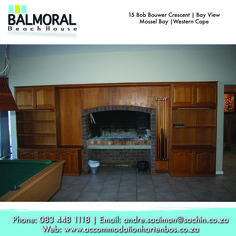 When staying with us and the weather seems bad, don't worry we have a nice Braai inside the house for bad weather and to have a Braai with the family.