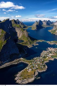 Reinefjord Aerial Lofoten Islands Norway by Douglas Stratton / 500px