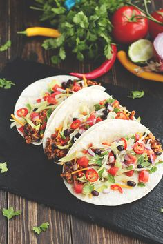 Tacos / Platos principales / HazteVeg.com