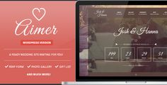 Aimer - Wedding WordPress Theme For Lovers Aimer is a beauty, unique and elegant theme made for lovers. It's a couple, engagement and wedding website out of the box. It's your future marriage site! Aimer is 100% responsive, retina ready and is built on Bootstrap Framework, with easy customization. It Also have Smooth Scroll, improving the user experience on all devices.