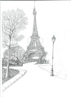 La Tour Eiffel WIP II by MahhPiovesan.deviantart.com on @deviantART Eiffel Tower Drawing, Eiffel Tower Art, Architecture Drawing Sketchbooks, Architecture Art, Pencil Art Drawings, Art Sketches, Efile Tower, Torre Eiffel Paris, Art Sketchbook