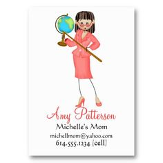 My Little Future Teacher Mommy Cards Business Cards