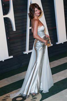 Model Helena Christensen arriving at the 2016 Vanity Fair Oscar Party