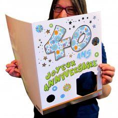 Carte Géante Joyeux Anniversaire 40 Ans