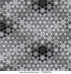 Black and White Varied Hexagon Geometric Pattern - buy this illustration on Shutterstock & find other images.