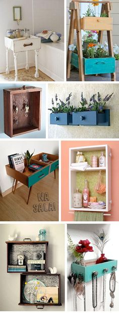 Drawer decor! Brilliant ways to upcycle old drawers of all sizes and finishes #upcycling We are want to say thanks if you like to share this post to another people via your facebook, pinterest, google plus or twitter account. Right Click to save picture or tap and hold for seven second if you...