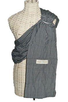 Maya Wrap Lightly Padded Ring Sling-New 2010 Colors (Medium, Dark Grey Stripe) Maya Wrap, Baby Number 2, Sling Carrier, Ring Sling, Baby Sling, Baby Wraps, Baby Time, Grey And White, Gray