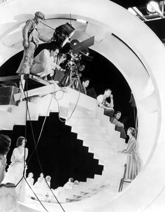 Keyframe | lottereinigerforever:   Busby Berkeley on the set...