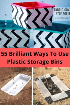 Plastic storage bins are used by many people to store items in their home or a storage unit. But, did you know, you can use them for a whole host of other projects? Anyone can place a storage bin on a shelf and call it a day, but other storage options exist.