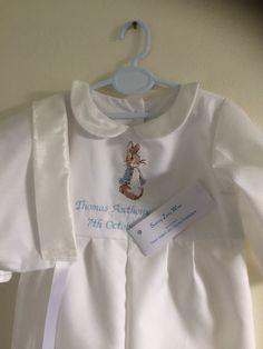 ed388c2e3 Full length white christening romper - this one has used fabric from mum's  wedding dress to · Romper SuitRabbit BabyBaby ChristeningPeter ...