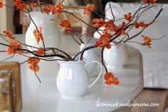 floral twigs - love the orange